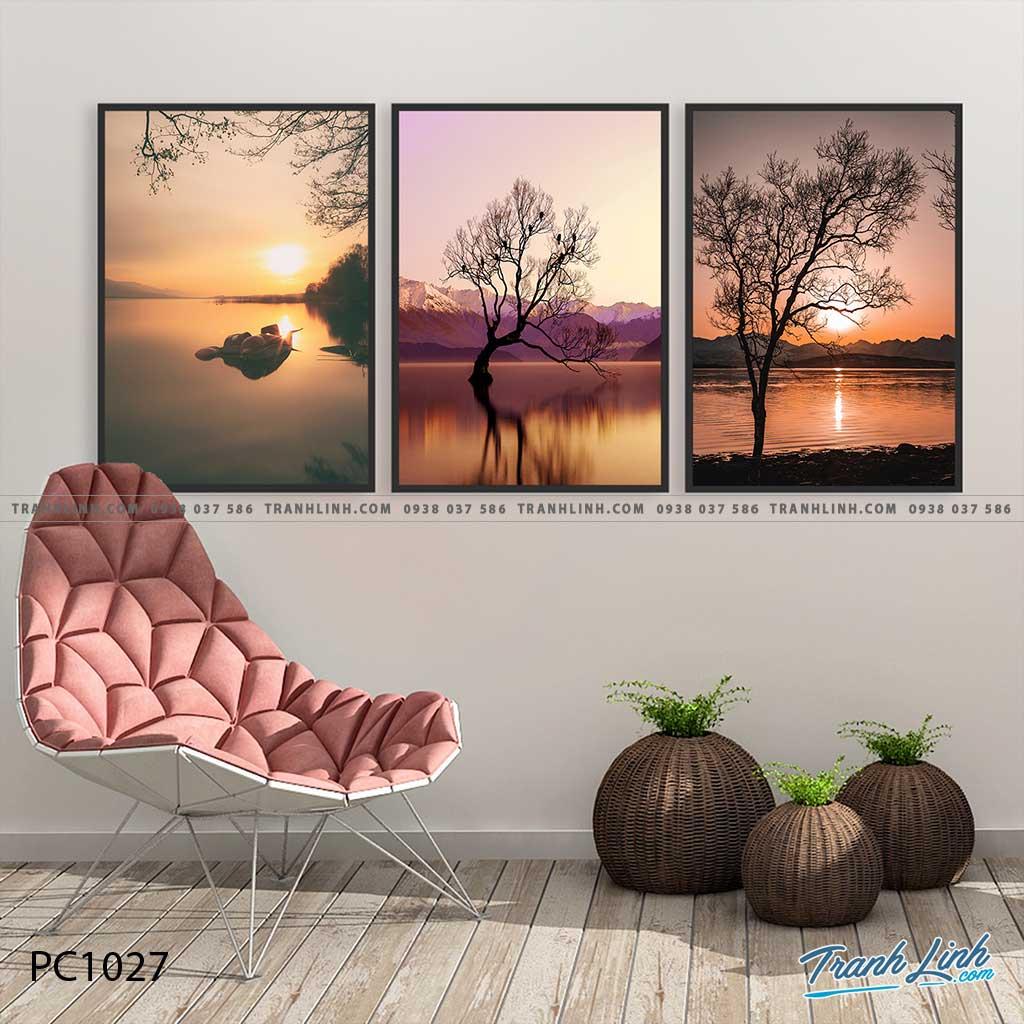 Bo tranh Canvas treo tuong trang tri phong khach phong canh PC1027