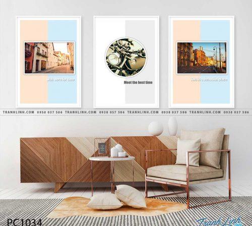 Bo tranh Canvas treo tuong trang tri phong khach phong canh PC1034
