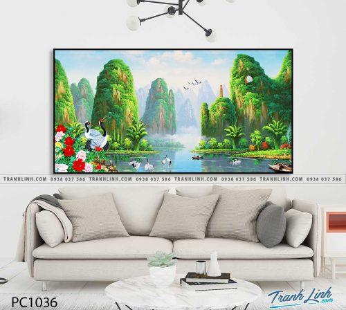 Bo tranh Canvas treo tuong trang tri phong khach phong canh PC1036