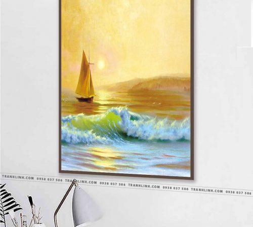 Bo tranh Canvas treo tuong trang tri phong khach phong canh PC1047