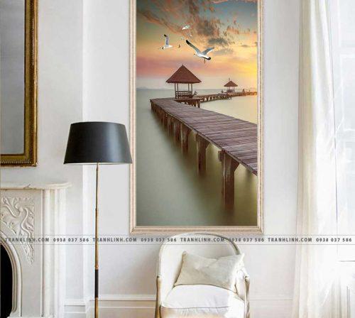Bo tranh Canvas treo tuong trang tri phong khach phong canh PC1057
