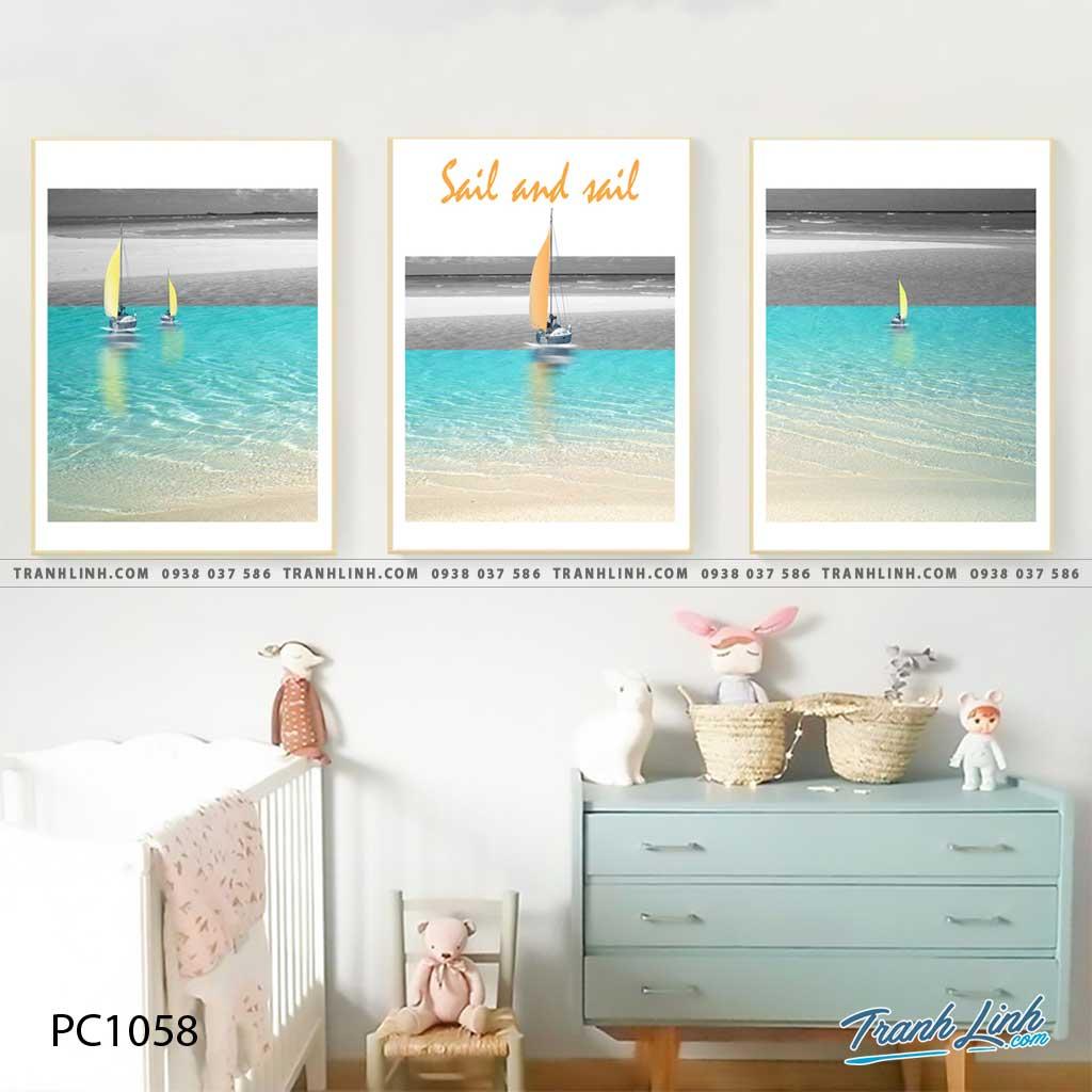 Bo tranh Canvas treo tuong trang tri phong khach phong canh PC1058