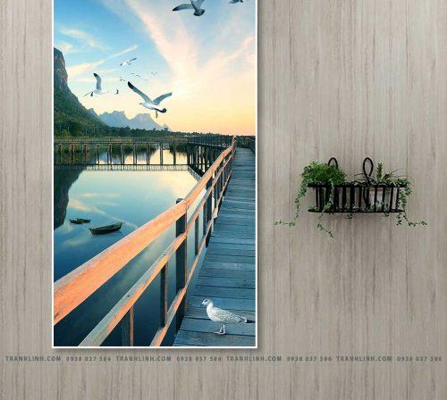 Bo tranh Canvas treo tuong trang tri phong khach phong canh PC1061
