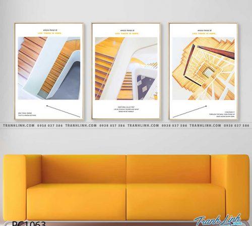 Bo tranh Canvas treo tuong trang tri phong khach phong canh PC1063