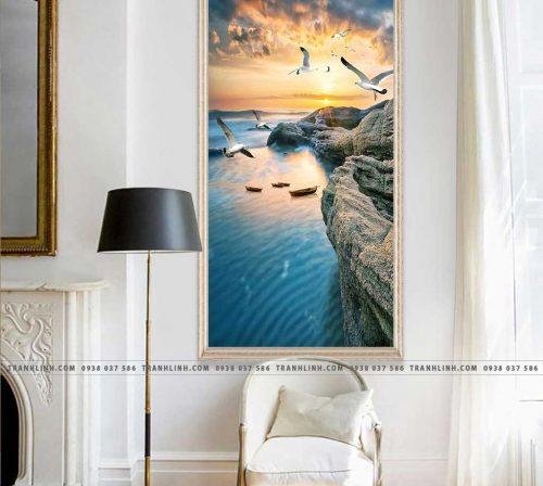 Bo tranh Canvas treo tuong trang tri phong khach phong canh PC1067