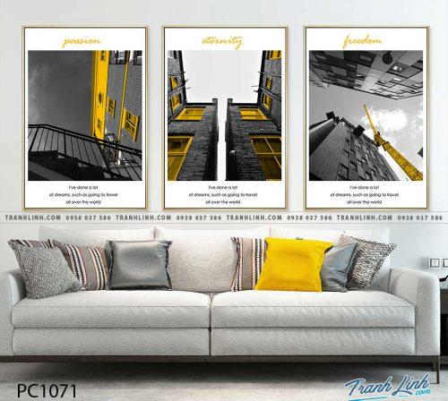 Bo tranh Canvas treo tuong trang tri phong khach phong canh PC1071