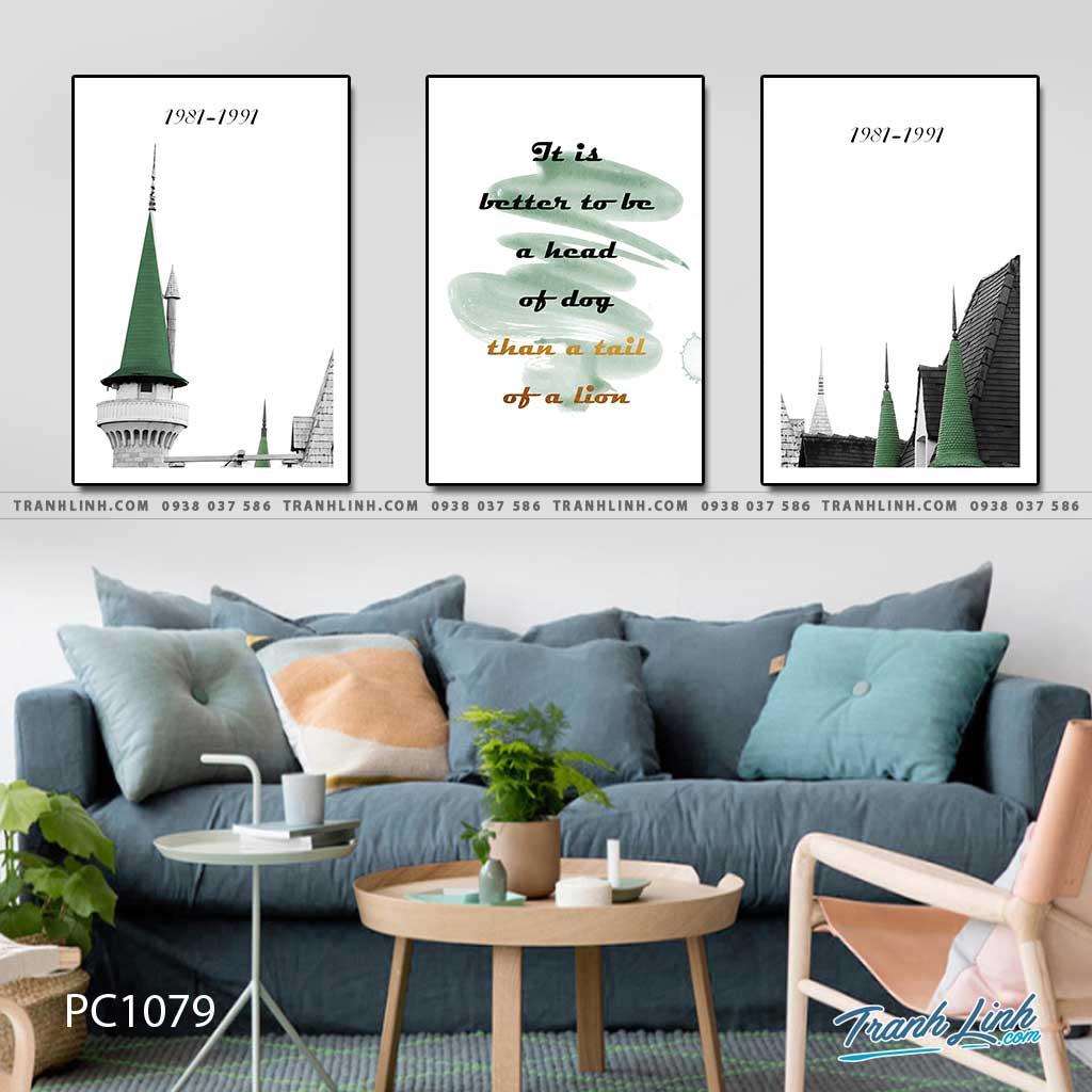 Bo tranh Canvas treo tuong trang tri phong khach phong canh PC1079