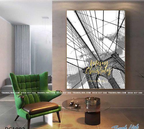 Bo tranh Canvas treo tuong trang tri phong khach phong canh PC1082