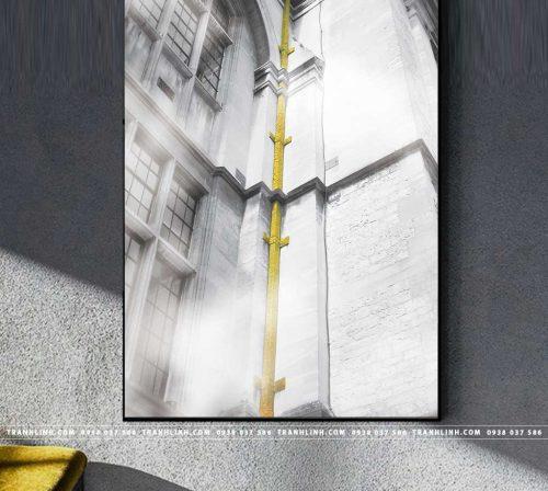 Bo tranh Canvas treo tuong trang tri phong khach phong canh PC1087