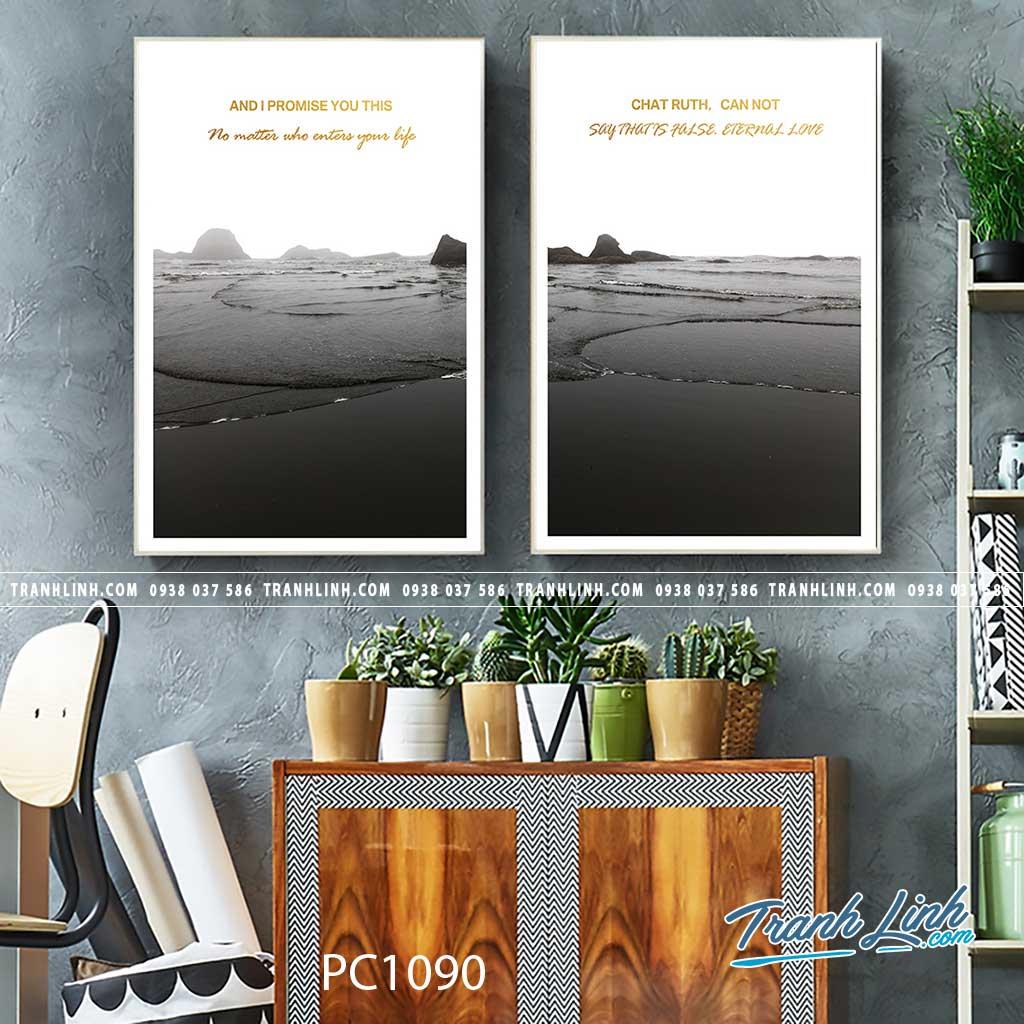 Bo tranh Canvas treo tuong trang tri phong khach phong canh PC1090