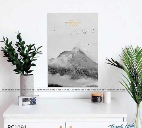 Bo tranh Canvas treo tuong trang tri phong khach phong canh PC1091