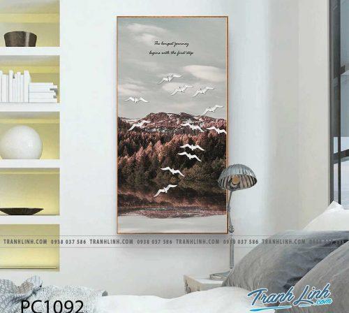 Bo tranh Canvas treo tuong trang tri phong khach phong canh PC1092