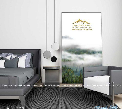 Bo tranh Canvas treo tuong trang tri phong khach phong canh PC1104