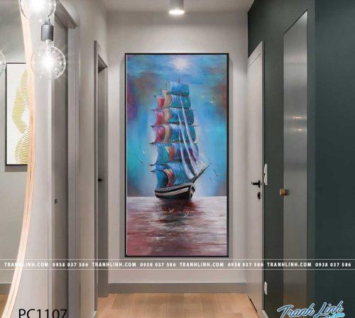 Bo tranh Canvas treo tuong trang tri phong khach phong canh PC1107