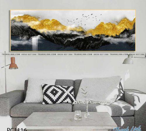 Bo tranh Canvas treo tuong trang tri phong khach phong canh PC1116