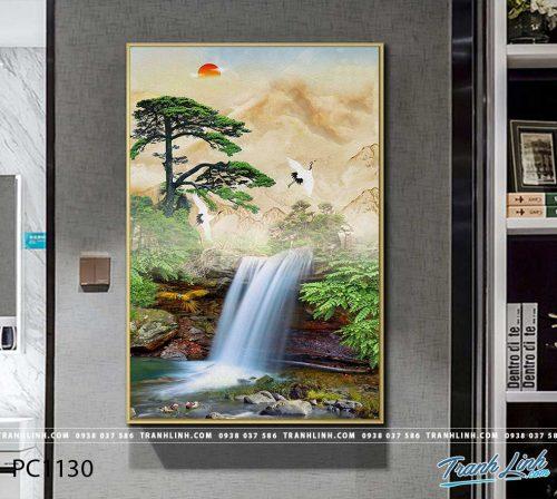 Bo tranh Canvas treo tuong trang tri phong khach phong canh PC1130