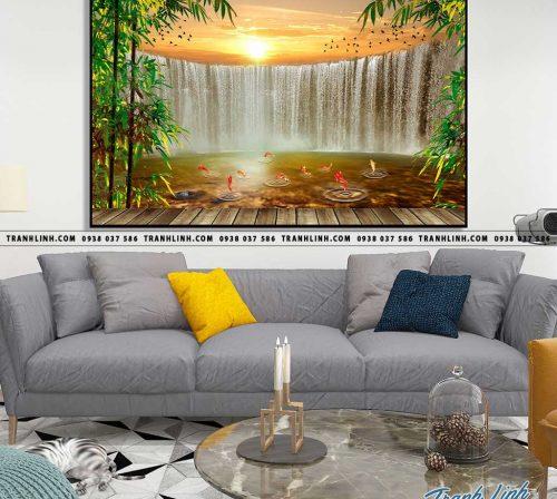 Bo tranh Canvas treo tuong trang tri phong khach phong canh PC1134