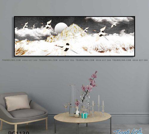 Bo tranh Canvas treo tuong trang tri phong khach phong canh PC1139