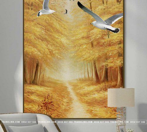 Bo tranh Canvas treo tuong trang tri phong khach phong canh PC1142