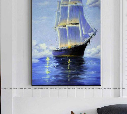 Bo tranh Canvas treo tuong trang tri phong khach phong canh PC1149
