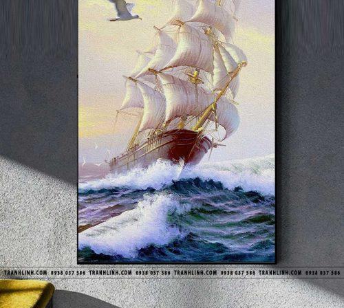 Bo tranh Canvas treo tuong trang tri phong khach phong canh PC1150