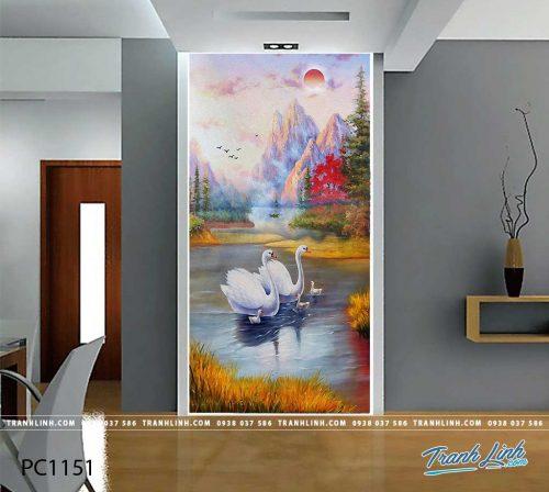 Bo tranh Canvas treo tuong trang tri phong khach phong canh PC1151