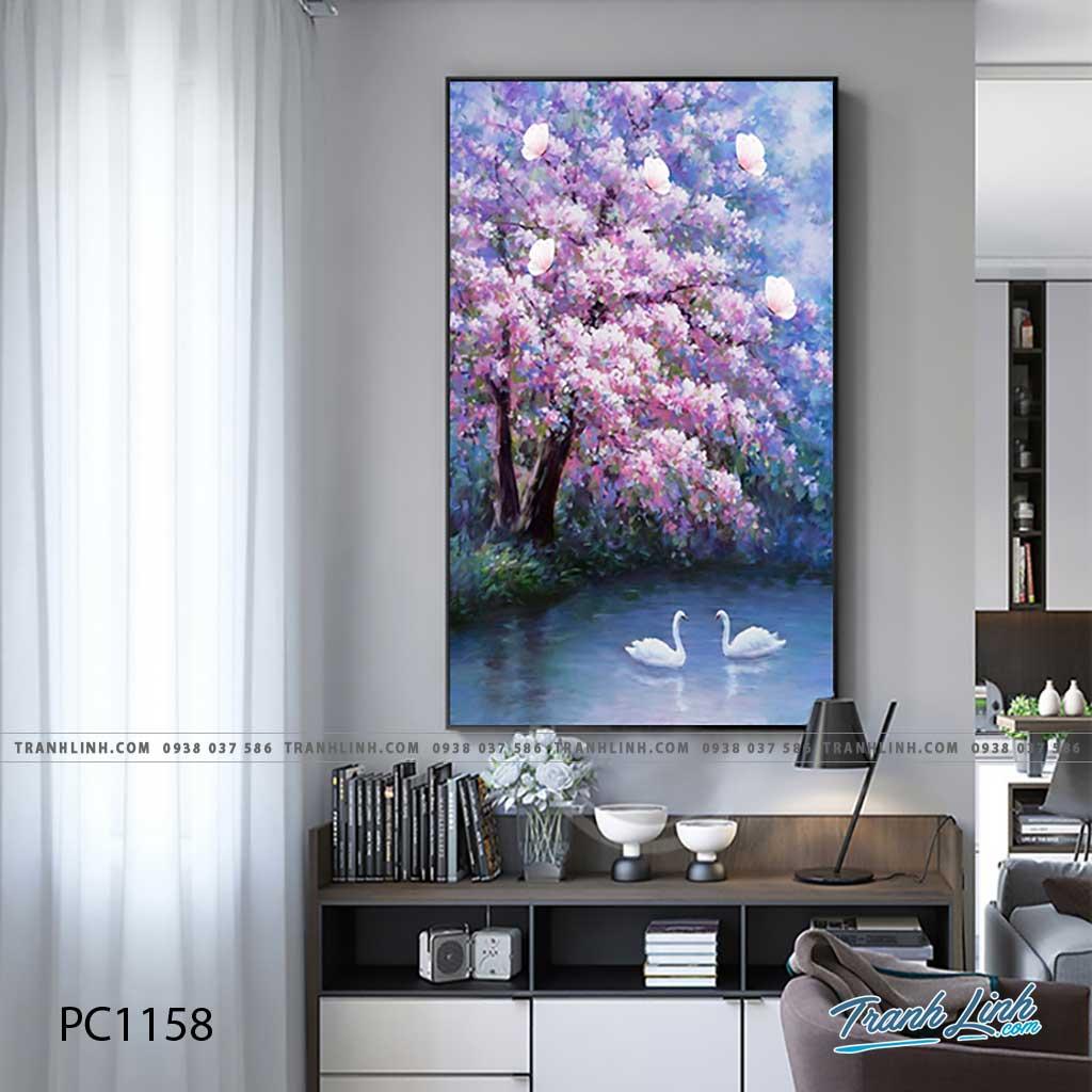 Bo tranh Canvas treo tuong trang tri phong khach phong canh PC1158