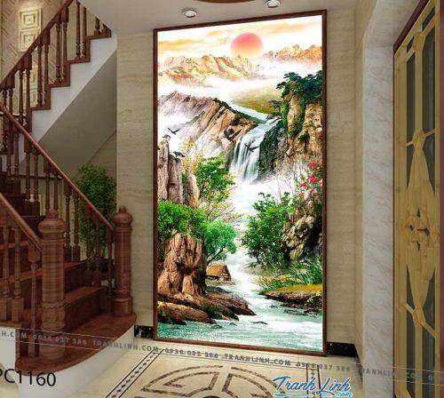 Bo tranh Canvas treo tuong trang tri phong khach phong canh PC1160