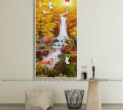 Bo tranh Canvas treo tuong trang tri phong khach phong canh PC1161