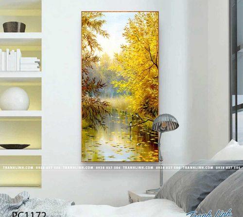 Bo tranh Canvas treo tuong trang tri phong khach phong canh PC1172