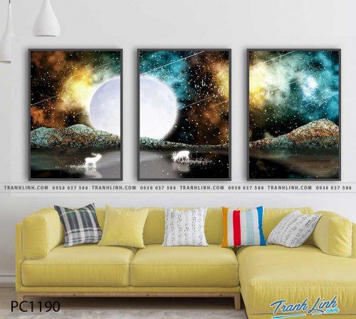 Bo tranh Canvas treo tuong trang tri phong khach phong canh PC1190