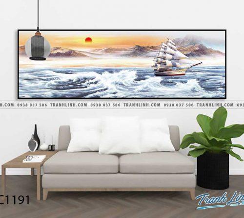 Bo tranh Canvas treo tuong trang tri phong khach phong canh PC1191