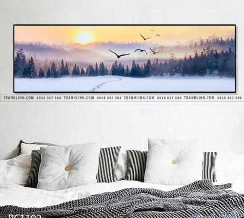 Bo tranh Canvas treo tuong trang tri phong khach phong canh PC1192