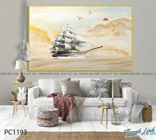 Bo tranh Canvas treo tuong trang tri phong khach phong canh PC1193
