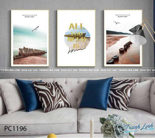 Bo tranh Canvas treo tuong trang tri phong khach phong canh PC1196