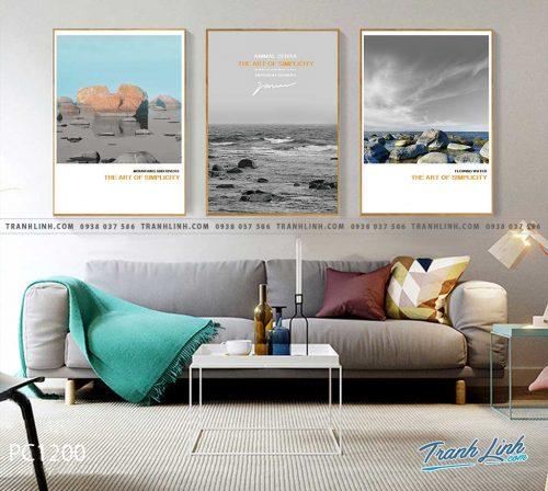 Bo tranh Canvas treo tuong trang tri phong khach phong canh PC1200