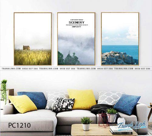 Bo tranh Canvas treo tuong trang tri phong khach phong canh PC1210