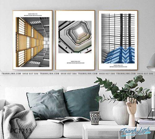 Bo tranh Canvas treo tuong trang tri phong khach phong canh PC1213