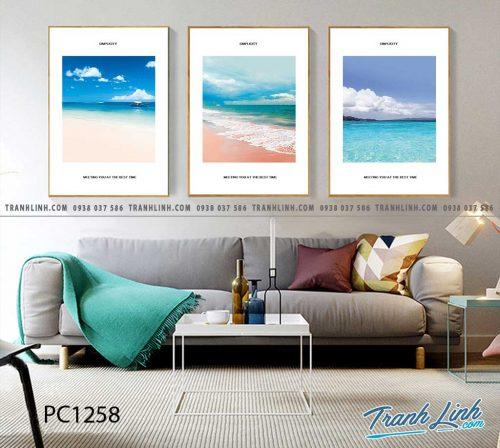 Bo tranh Canvas treo tuong trang tri phong khach phong canh PC1258