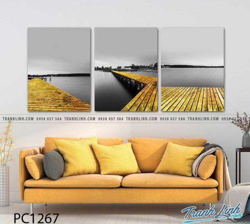 Bo tranh Canvas treo tuong trang tri phong khach phong canh PC1267