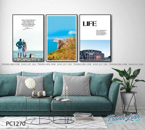 Bo tranh Canvas treo tuong trang tri phong khach phong canh PC1270