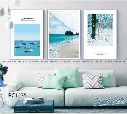 Bo tranh Canvas treo tuong trang tri phong khach phong canh PC1275