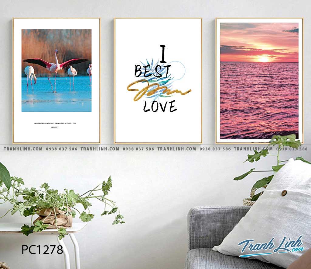 Bo tranh Canvas treo tuong trang tri phong khach phong canh PC1278