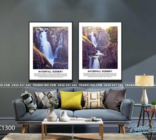 Bo tranh Canvas treo tuong trang tri phong khach phong canh PC1300
