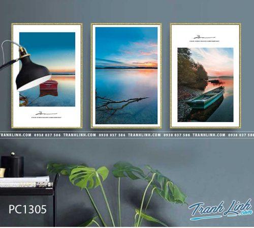 Bo tranh Canvas treo tuong trang tri phong khach phong canh PC1305