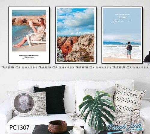Bo tranh Canvas treo tuong trang tri phong khach phong canh PC1307