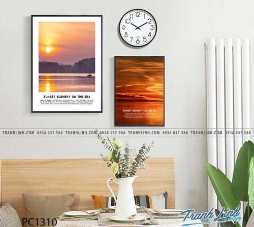 Bo tranh Canvas treo tuong trang tri phong khach phong canh PC1310