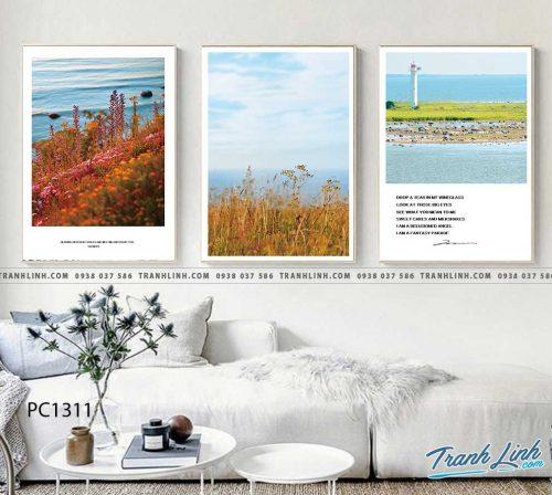 Bo tranh Canvas treo tuong trang tri phong khach phong canh PC1311