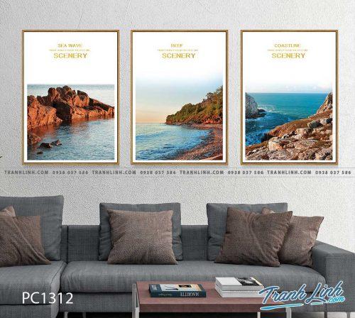 Bo tranh Canvas treo tuong trang tri phong khach phong canh PC1312