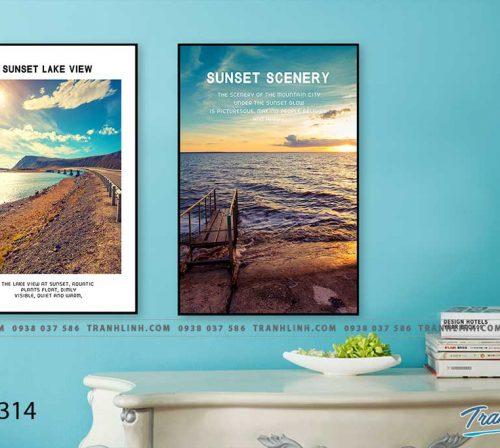 Bo tranh Canvas treo tuong trang tri phong khach phong canh PC1314